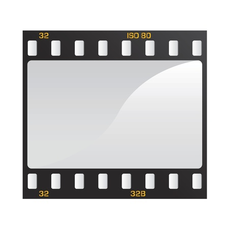 reel: photo and video film vector