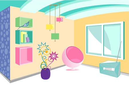 modern interior vector Stock Vector - 9315703