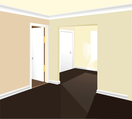 stairs interior: interior room vector
