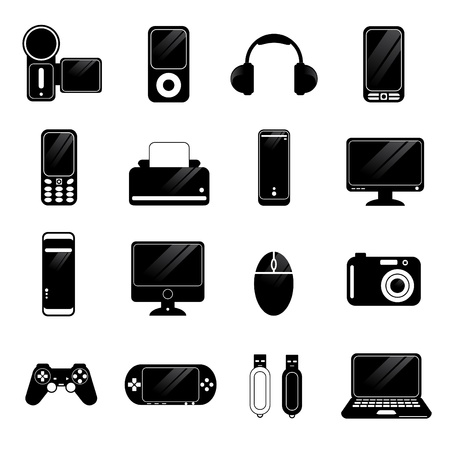 printers: electronic icons vector