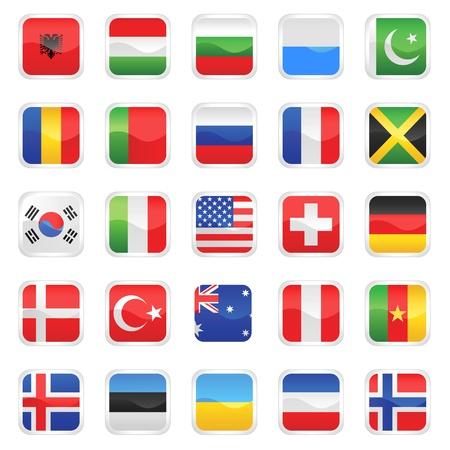 albanie: ensemble de vecteur de drapeaux