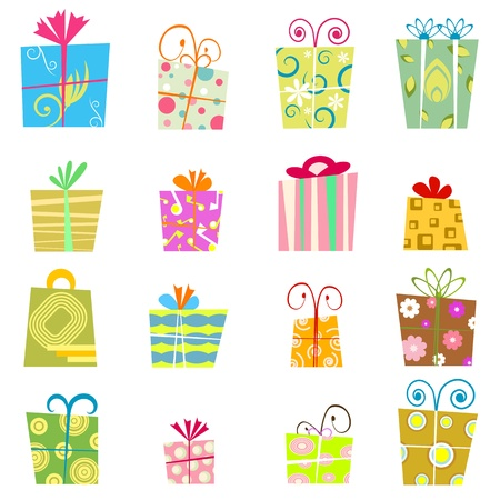 manic: cute gift box vector