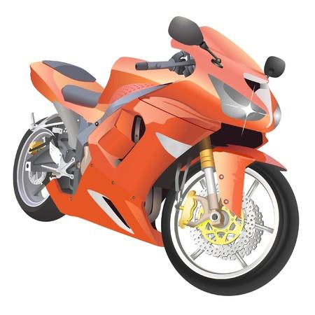 motorcycle great details vector Vector