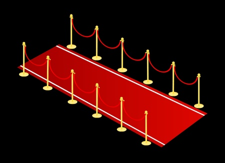 red carpet vector Stock Vector - 9315776