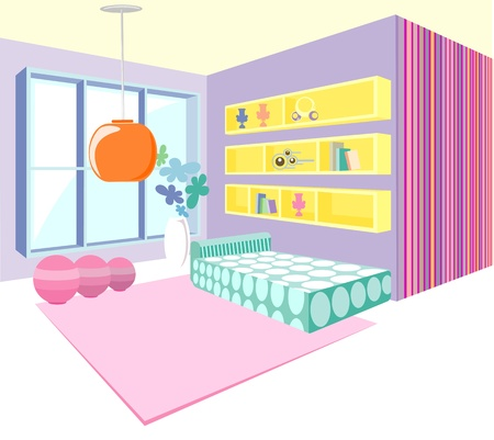 bedroom design modern interior vector illustration