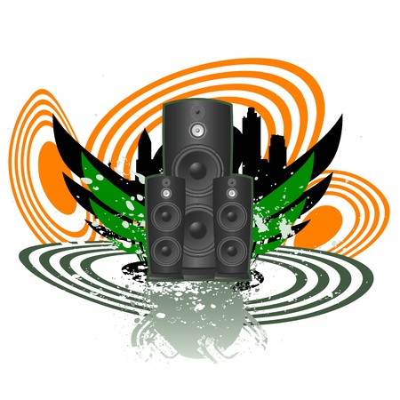 loud   speakers: abstract music vector