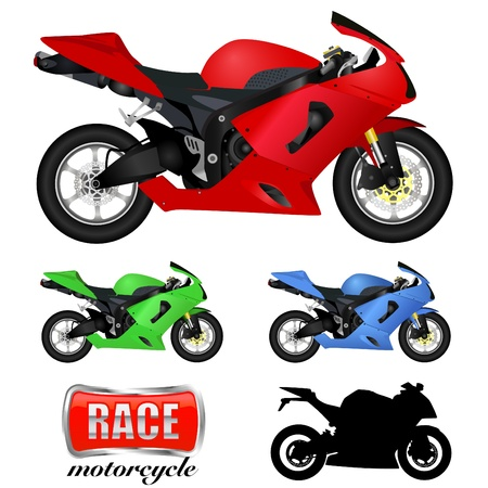 motorbike jumping: motorcycle  Illustration