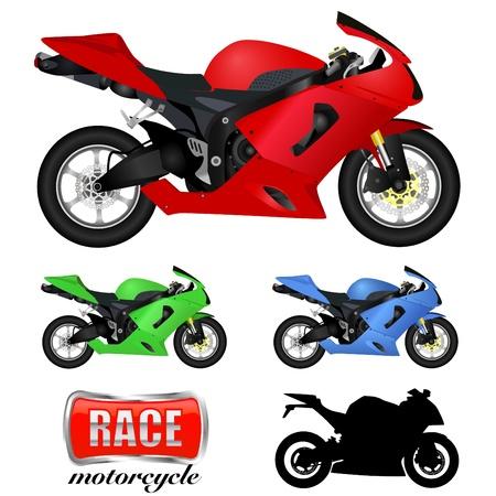 chopper: motorcycle  Illustration