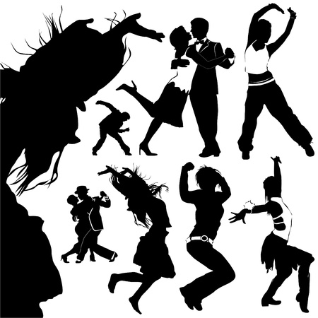 dancing people vector  Vector