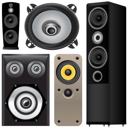set of speaker vector  Stock Vector - 9345605