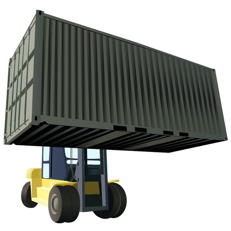 montacargas: vector de contenedor