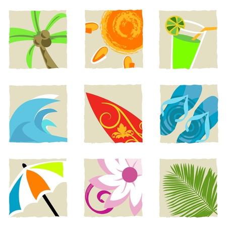 summer graphics vector  Vector