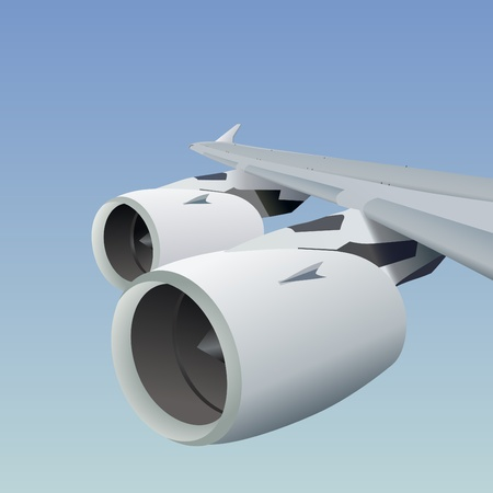 airplane wing: airplane wing vector  Illustration
