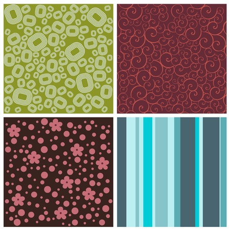 set of decorative background vector Stock Vector - 9345627