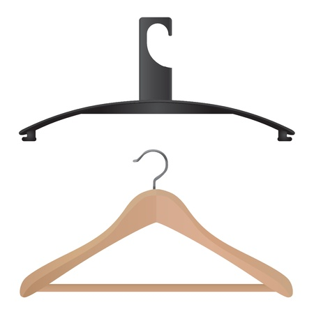 clothing rack: set of hanger vector