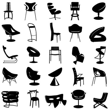chair vector: vector sedia moderna Vettoriali