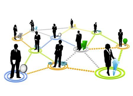 businessmen: global communication vector