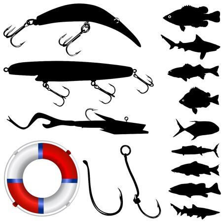 fishing vector  Stock Vector - 9345604
