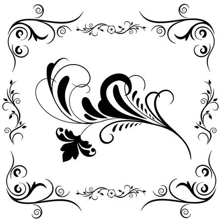decorative floral elements vector Stock Vector - 9345588