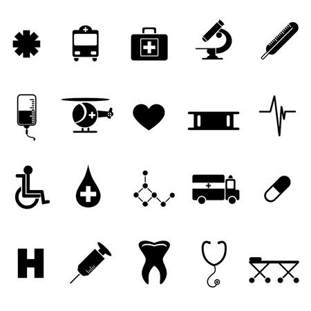 iconos medicos: conjunto de iconos de m�dicos  Vectores