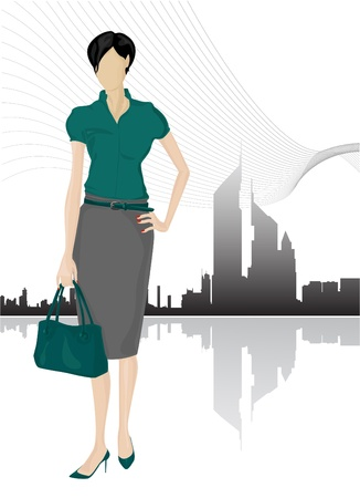 business shoes: Businesswomen vector