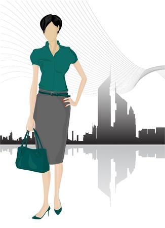 ropa trabajo: Vector de mujeres empresarias
