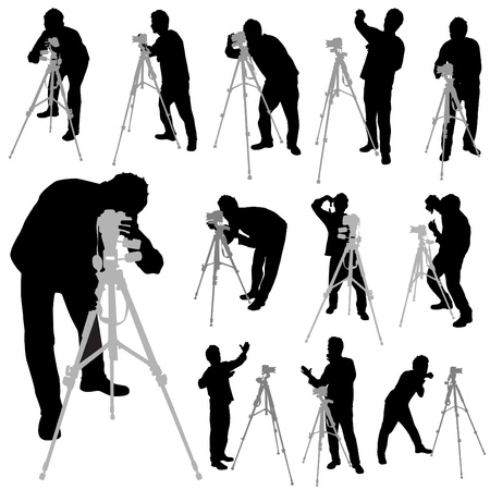 cameraman: photographer silhouettes
