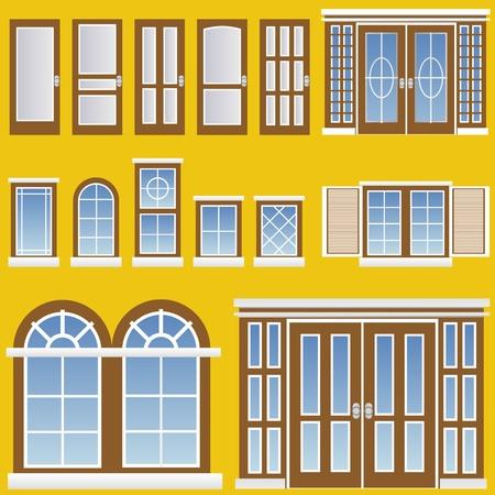 Fenster und Tür Vektor