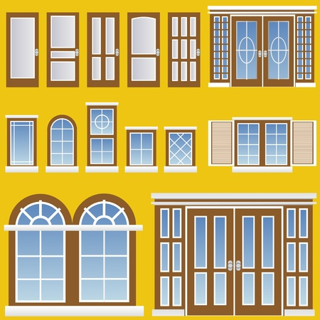 window and door vector Stock Vector - 9345650