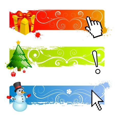 horizontal lines: banner de Navidad establece vector