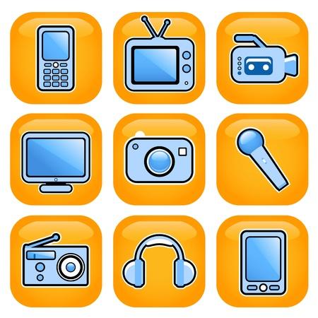electronic icon set Stock Vector - 9345646