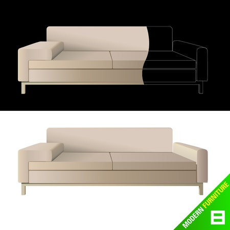 modern furniture  vector Stock Vector - 9345652