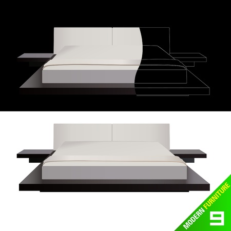 modern living room: modern furniture  vector Illustration