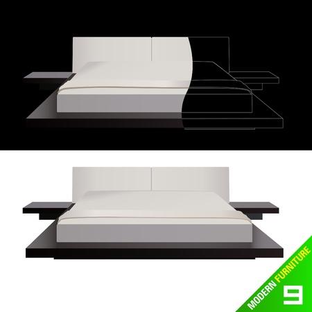 modern furniture  vector Stock Vector - 9345649