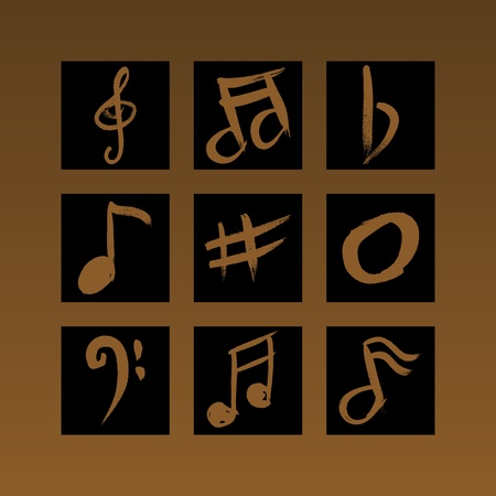music note  vector Vector