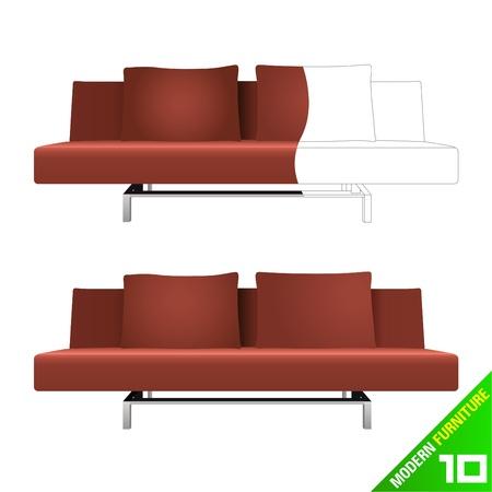 modern furniture vector Stock Vector - 9345648