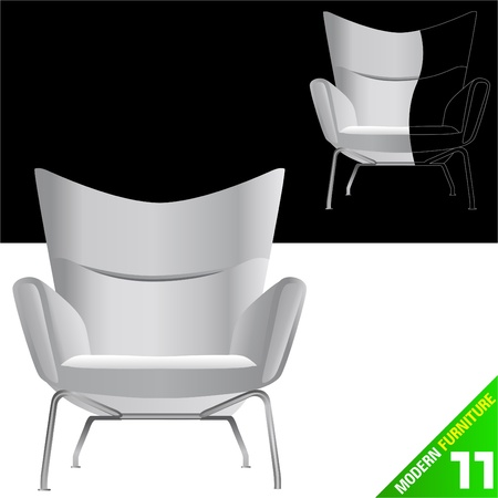 modern furniture vector Stock Vector - 9345654