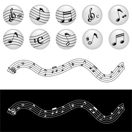 music note vector Stock Vector - 9345658