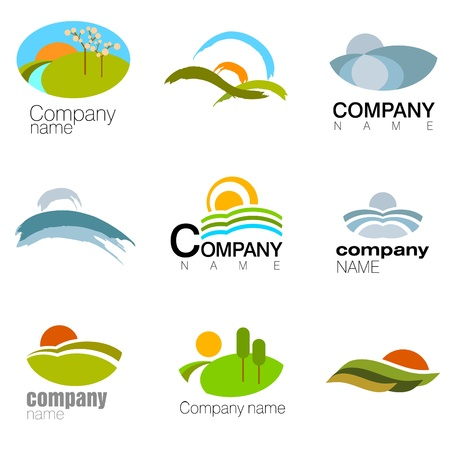 tree service business: abstract nature symbol vector