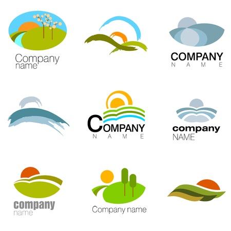 environnement entreprise: vecteur de symbole de nature abstraite