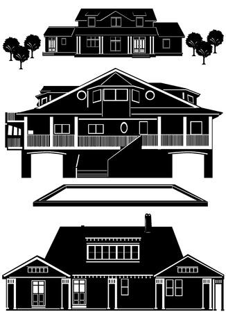 residences vector Stock Vector - 9402026