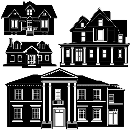 new homes: residences vector