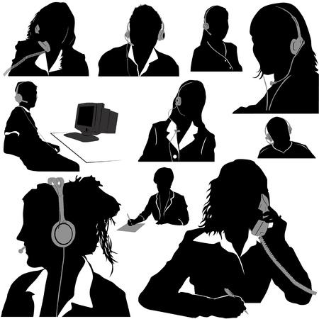 call center: secretary and call center operator