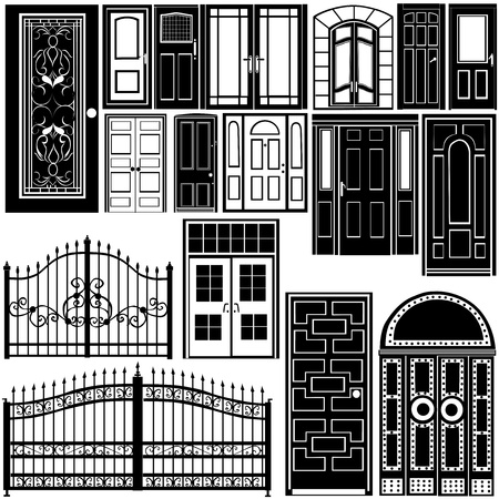 door vector  Stock Vector - 9401891