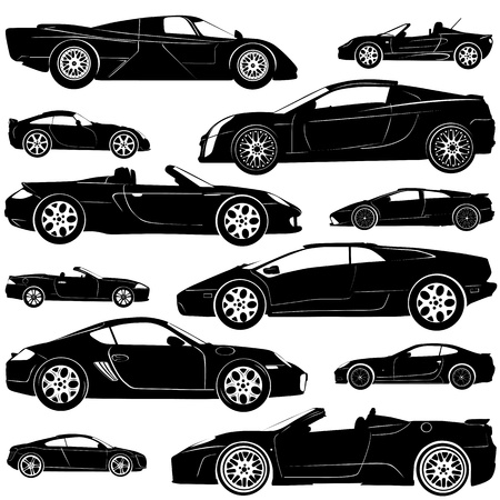 speedster: set of  car vector (illustration in detail)