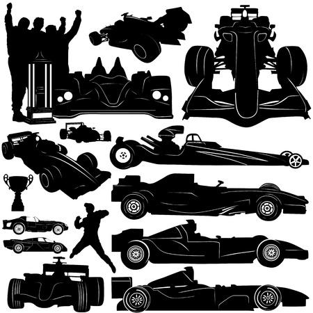 drag race: vector de coche de f�rmula y raza