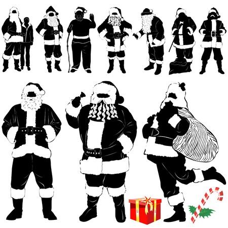 santa claus - christmas (clothes detail)  Vector