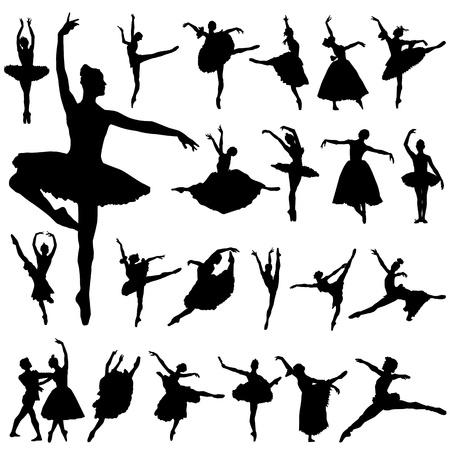 ballet: vector de bailarina y ballet  Vectores