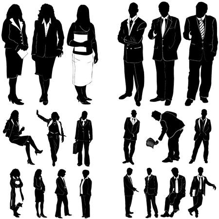business people vector 1 (clothes detail)  Vector