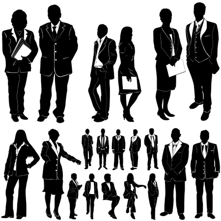 business people vector 2 (clothes detail)  Vector